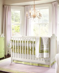 Everytime I see a baby crib with a Chandlier I think of my sister Kelsey Paasch and her little baby on the way <3