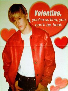 Aaron Carter valentines  day card from back in the day...and thats how I beat Shaq!