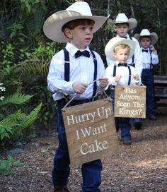 funny ring bearer signs