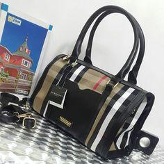 Burberry Black Duffle Bag | Sahiba Collection