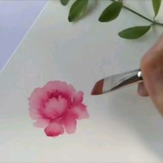 ---- it's also a brush thing - Suluboya Painting easy Painting ideas Painting water Painting tutorials Painting landscape Painting abstract Watercolor Painting Watercolor Painting Techniques, Watercolour Tutorials, Watercolour Painting, Painting Flowers Tutorial, Watercolor Video, Watercolor Rose, Art Tutorials, Art Lessons, Flower Art