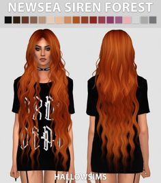 Hallow Sims: Newsea`s Siren Forest Hair Retextured for Sims 4