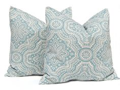 Decorative Throw Pillow Cover One All Sizes Blue Floral Damask on Linen Paisley Cushion Covers Taupe Pillows