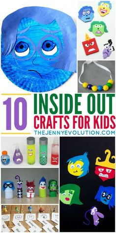 Inside Out Movie Crafts and Activities for Kids by Jennifer.Kids love Disney's latest movie, Inside Out. And parents love it because it gets kids talking about their emotions. Mix the two and you get these delightful Inside Out crafts for kids! Counseling Activities, Art Therapy Activities, Craft Activities, Play Therapy, Therapy Ideas, Morning Activities, Speech Therapy, Movie Crafts, Fun Crafts