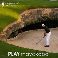 Cada vez que #JUEGASmayakoba, surge un nuevo desafío! @mayakobagolfcourse #golf #teetime #campodegolf #PGATOUR #elcamaleón