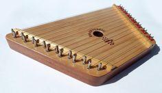 Vintage Nepenenoyka Lap Harp Zither 15 String Music by Luxina, $39.00