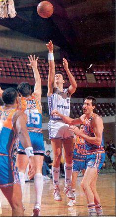 Real Madrid vs Baskonia, 88/89. Drazen Petrovic.