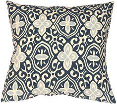 Alhambra Handprint Indigo 15x15 Throw Pillow