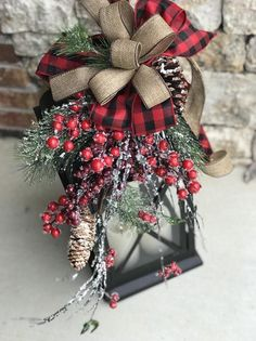 [orginial_title] – Frieda Johnston XL Large christmas lantern swag, winter lantern swag, woodland holiday decor, rustic lantern swag, f Vintage Decor Rustic XL Large christmas lantern swag winter lantern swag holiday Christmas Porch, Noel Christmas, Country Christmas, Outdoor Christmas, Christmas Projects, Large Christmas Ornaments, Christmas Lights, Christmas Ideas, Homemade Christmas