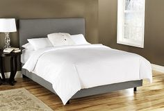 One Kings Lane - Rooms for Less - Novak Upholstered Bed, Gray - $569 on One Kings Lane & $10 shipping