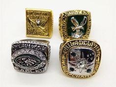 1949 1960 1980 2004 Philadelphia Eagles Super Bowl Sports Team World Championship Replica Team Ring