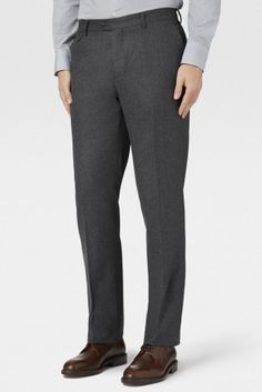 Pantalon uni en flanelle Kensington Mayfair Hackett