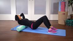 Learn how to effectively massage your upper body muscles using a foam roller.