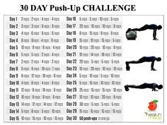 Men's Fitness: 30 Days Push-Up Challenge - http://www.amazingfitnesstips.com/mens-fitness-30-days-push-up-challenge