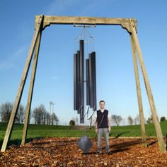 Music Of The Spheres 14 Foot Wind Chime - Basso Profundo Large Wind Chimes, Diy Wind Chimes, Gothic Garden, Wind Sculptures, Music Therapy, Suncatchers, Stress Relief, Amazing Gardens, Outdoor Gardens