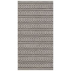 Oxbow Hand-Woven Cotton Ivory/Black Area Rug