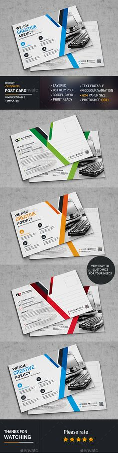 Post Card Design Template - Cards & Invites Print Template PSD. Download here: http://graphicriver.net/item/post-card/16888752?s_rank=52&ref=yinkira