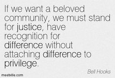 bell hooks quotes | If we want a beloved community, we must stand for justice, have ...