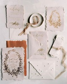 Copper and Gold Wedding Invitation