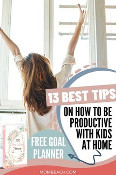 13 Best Productivity Tips For Stay at Home Moms Things To Do At Home, Stay At Home Mom, Work From Home Moms, Home Planner, Goals Planner, Mom Schedule, Legitimate Work From Home, Peaceful Parenting, Time Management Tips