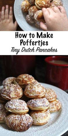 Poffertjes (Dutch Pancakes) - How to Make Poffertjes ~ Dutch Pancakes . - Poffertjes (Dutch Pancakes) – How to Make Poffertjes ~ Dutch Pancakes Mini Pancakes - Dutch Oven Recipes, Cooking Recipes, Healthy Recipes, Amish Recipes, Chard Recipes, Danish Pancakes, Mini Pancakes, Pancake Muffins, Crack Crackers
