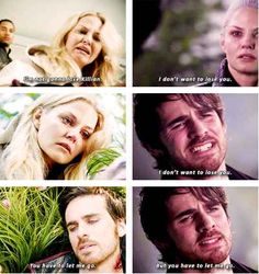 He sacrificed himself to save Emma and her family and blah blah but HOOK IS STABBED, PEOPLE.