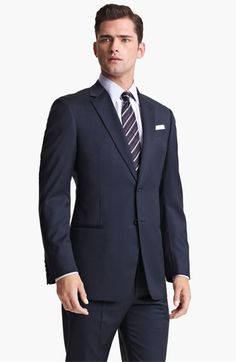 Armani Collezioni 'Giorgio' Trim Fit Suit #Men's-Suits-&-Sportcoats #NAVY-CHECK