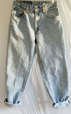 03c1cc564 Levi's 550 Relaxed Fit Tapered Leg Vintage Jeans Mom 1990s Junior Womens Sz  7 M
