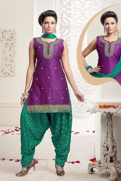 Purple Art Dhupian Silk Punjabi Suit 59918