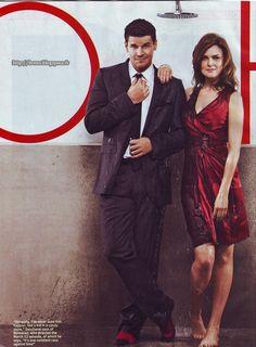David Boreanaz and Emily Deschanel.