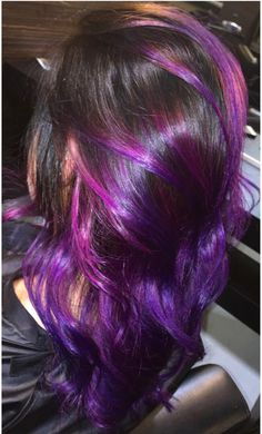 Obsessed with this purple hair purple balayage hair ombré hair