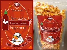 If you enjoy hot things like the Sriracha Lollipops and 100,000 Scovilles Hot Naga Chilli Vodka, then you're going to want to get your hands on a few bags of this Sriracha Popcorn.  Perfect for snacking on while watching movies or for getting your taste buds warmed up for a nice spicy pla