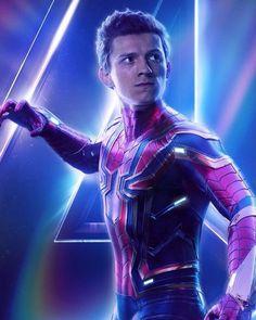 Avengers: Infinity War (Tom Holland as Peter Parker / Spiderman) Marvel Avengers, Marvel Dc Comics, Marvel Heroes, Poster Marvel, Thanos Marvel, Captain Marvel, Spiderman Marvel, Spiderman Poster, Spider Man