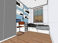 Interior Design Visualisation: Designing this blank canvas space to maximise the dimensions and layout - Moko 3D - UK
