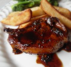 The English Kitchen: Soy and Ginger Glazed Pork Chops