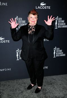 Another faux mohawk...Career Achievement Award Honoree April Ferry attends the 16th Costume Designers Guild Awards w