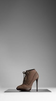 Burberry - The Brogue Field Boot in taupe, $895