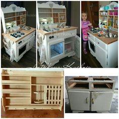 Kuchnia dla dzieci Diy że starych szafek ;-)