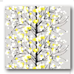 tree/branch/blossom artwork- could do any color. the perfect piece that could be added to any room.