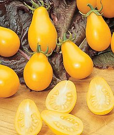 Grow something different in the Garden this year: Organic Heirloom Variety Yellow Pear Tomatoes
