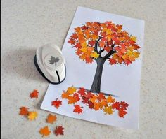 collage activity Arrival of autumn - - Fall Arts And Crafts, Autumn Crafts, Autumn Art, Thanksgiving Crafts, Holiday Crafts, Winter Craft, Kids Crafts, Fall Crafts For Toddlers, Toddler Crafts