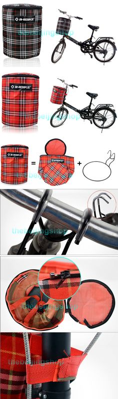Foldable Cycling Bicycle Bike Front Tube Canvas Basket Bag