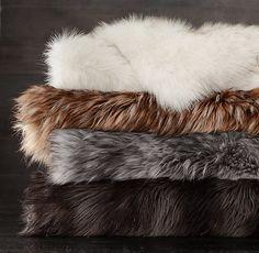 ❤Exotic Faux Fur Throw @ Restoration Hardware