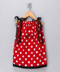 Red & White Dot Monogram Swing Dress - Infant, Toddler & Girls by Cozy Bug #zulily #zulilyfinds