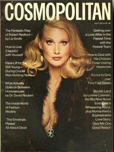 Cosmopolitan magazine, APRIL 1974 Model: Kathy Spiers Photographer: Francesco Scavullo