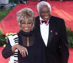 Celia Cruz and her husband Pedro Knight.