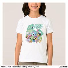 Camisa animal del fiesta del mascota del atasco
