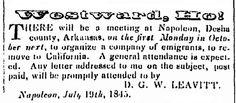 "An 1845 newspaper ad urging westward migration, published in the Arkansas Weekly Gazette (Little Rock, Arkansas), 29 September 1845. Read more on the GenealogyBank blog: ""Old Newspaper Ads, Your Immigrant Ancestors & U.S. Migrations."" http://blog.genealogybank.com/old-newspaper-ads-your-immigrant-ancestors-u-s-migrations.html"