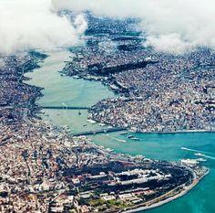 #Стамбул вид на #залив #ЗолотойРог #Эминёню #Каракёй Pamukkale, Antalya, City Photo, River, Adventure, Outdoor, Cities, Outdoors, Rivers