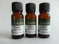 Organic Tea Tree Pure Essential Oil Three 10ml bottles Aromatherapy Care